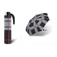 Deštník Alu light odlehčený černé káro poštovné zdarma