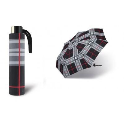 Deštník Alu light odlehčený 32023 černé káro