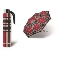 Deštník Alu light odlehčený červené káro Poštovné zdarma