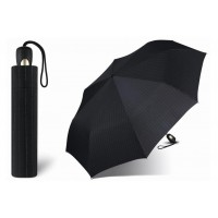 Pánský vystřelovací deštník Esprit černý s proužkem Poštovné zdarma