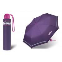 Dívčí skládací deštník Scout - Basic Lilac dark