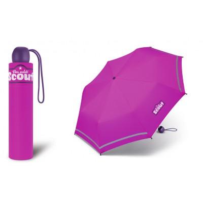 Dívčí skládací deštník Scout - Basic Pink 2019