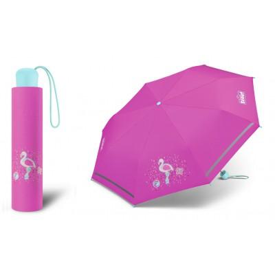 Dívčí skládací deštník Scout - Flamingo