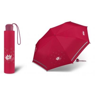 Dívčí skládací deštník Scout - Červená korunka