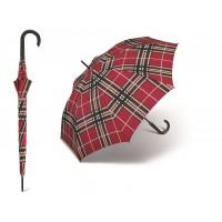 Dlouhý deštník - červené káro - poštovné zdarma