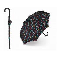 Holový deštník Esprit Letterjam černý