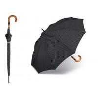 Dlouhý deštník - proužkatý s dřevěnou rukojetí POŠTOVNÉ ZDARMA